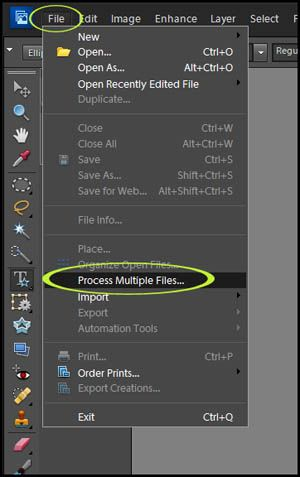 How to batch process multiple files in Photoshop Elements via @amandapadgett