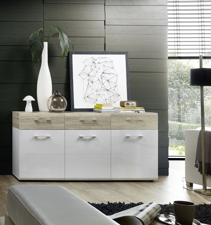 die besten 25 sideboard weiss hochglanz ideen auf pinterest tv m bel mit r ckwand tv m bel. Black Bedroom Furniture Sets. Home Design Ideas