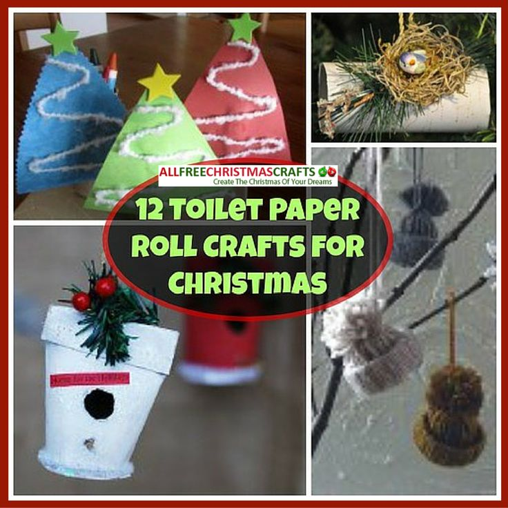 12 Toilet Paper Roll Crafts for Christmas Christmas card