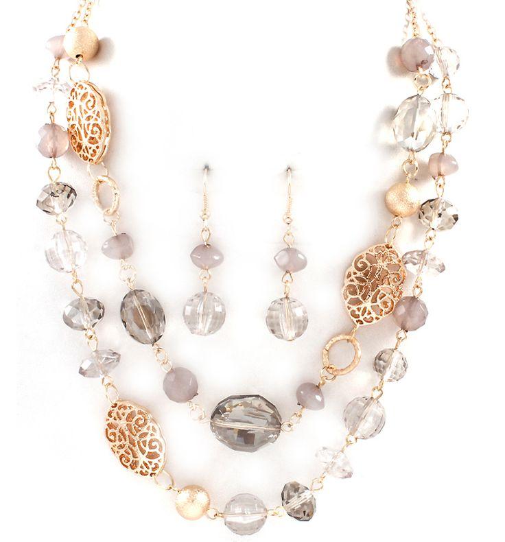 Anna Necklace in Black Diamond