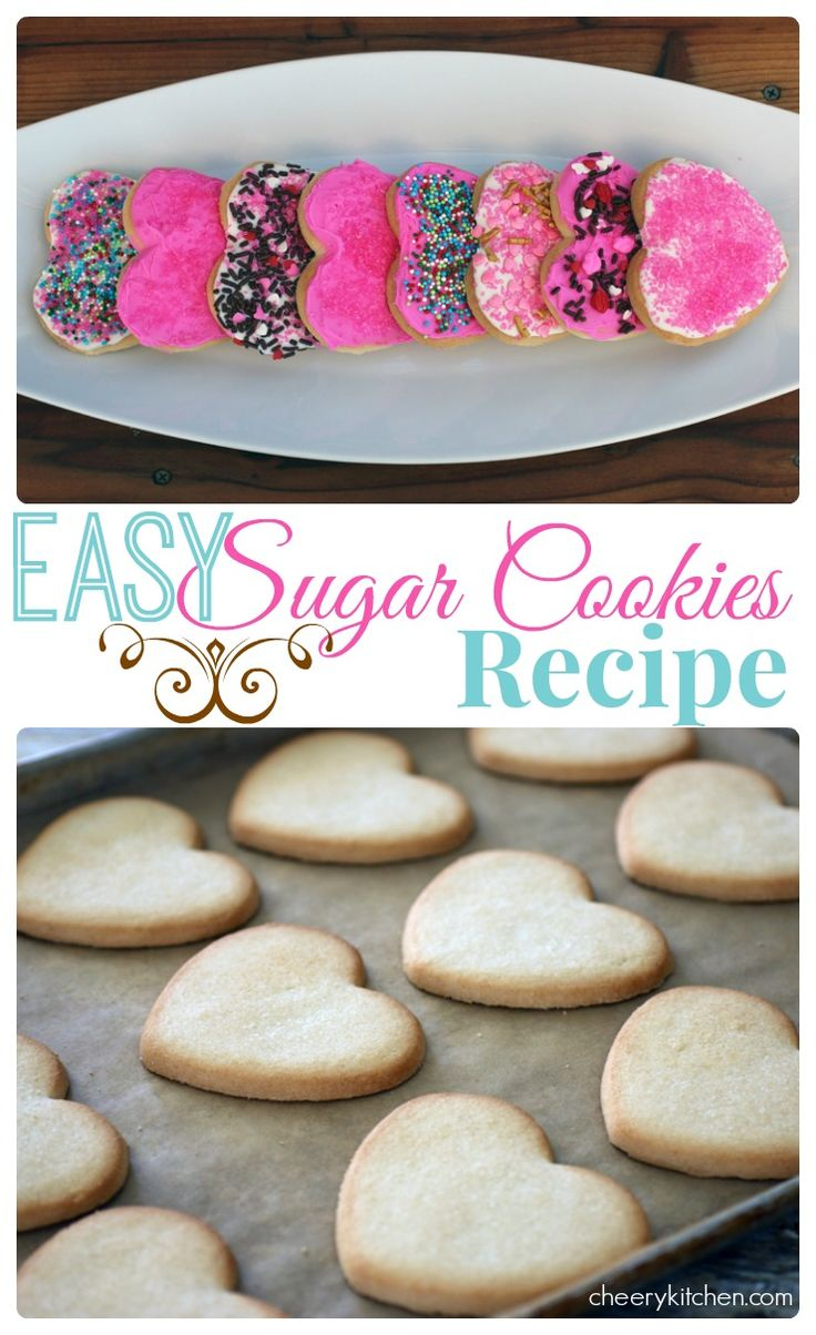Easy Sugar Cookies Recipe, are so perfect for any occasion. Have fun at your house by letting the kids decorate them and share the love with family and friends!