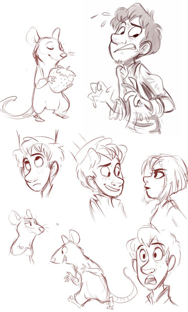 Ratatoille sketches by sharpie91.deviantart.com on @deviantART