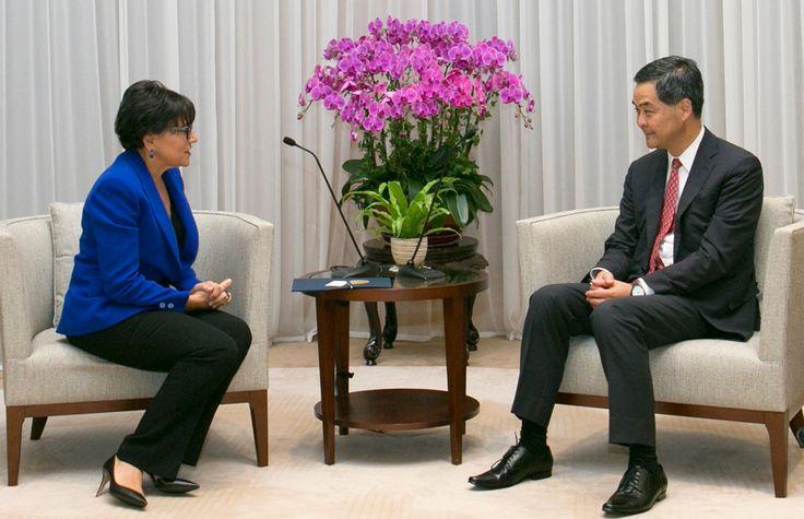 Secretary Pritzker meets with Hong Kong Chief Executive CY Leung