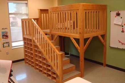 Woodworking Projects: Reading Loft for church preschool - Furniture - Rockler.com
