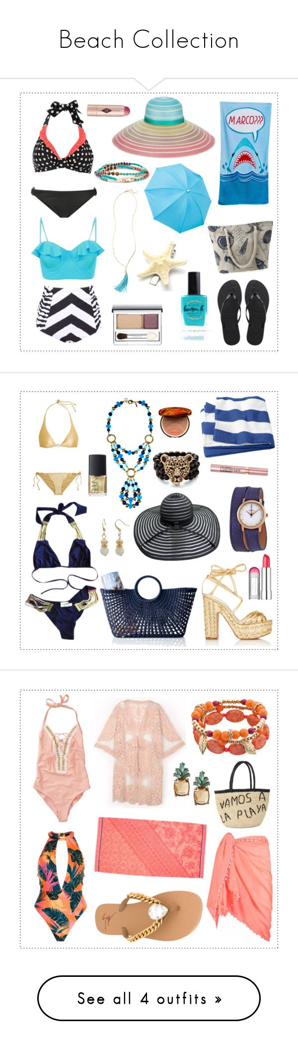 """""""Beach Collection"""" by divinatas ❤ liked on Polyvore featuring Malia Mills, Havaianas, Missoni, Lilly Pulitzer, Lauren B. Beauty, Clinique, Charlotte Tilbury, Beach Bunny, Alchimia Di Ballin and Mark & Graham"""