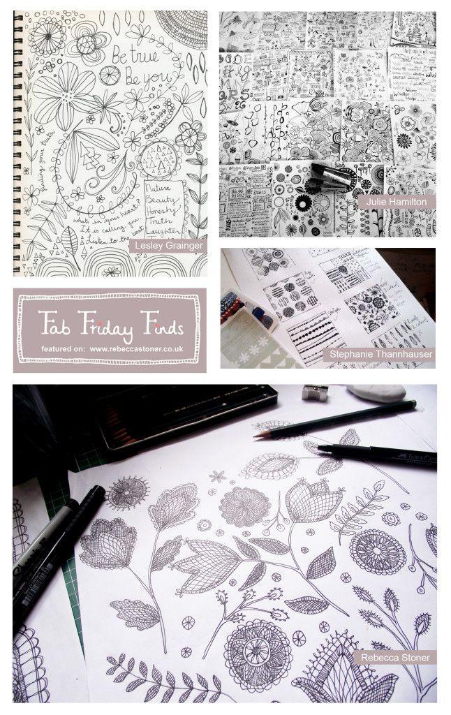 Fab Friday Finds - Week 7 - Sketchbooks - on Rebecca Stoner www.rebeccastoner.co.uk