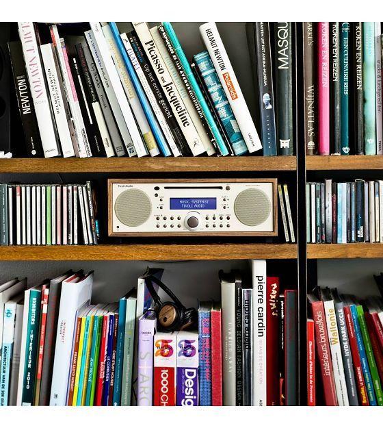 Tivoli Audio Radio Music System BT white brown wood 35,88x24,13x13,34cm - Wonen met LEF!