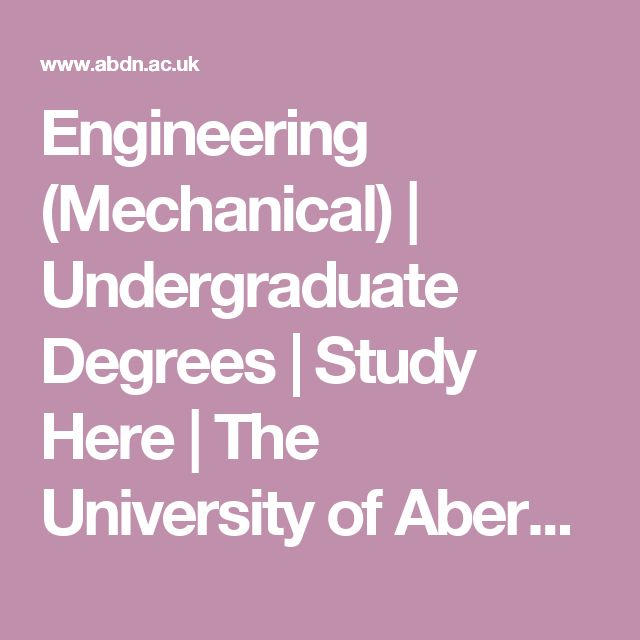 Engineering (Mechanical) | Undergraduate Degrees | Study Here | The University of Aberdeen