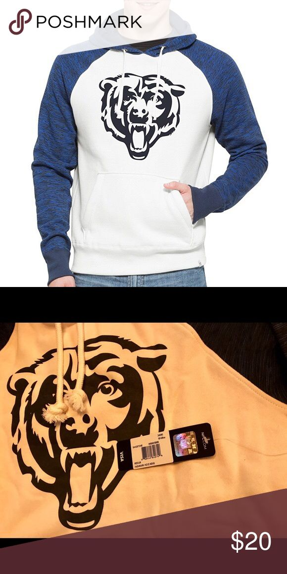 Chicago Bears Men's '47 Hashmark Pullover Hoodie Brand New Officially Licensed with tags. This cozy '47 Hashmark Pullover Hoodie is 60% Cotton/40% Poly with bold Bears logo on front and color blocking hood and sleeves. 888442840749 47 Shirts Sweatshirts & Hoodies