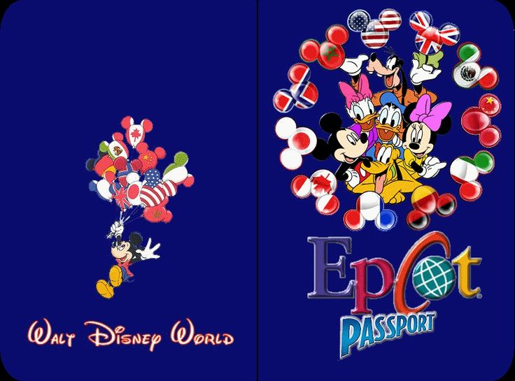 Epcot passport (in printing order) - cute takealong for visiting the showcases