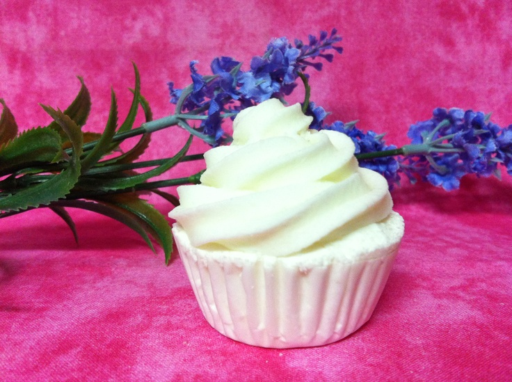 Pure and Simple -Mini cupcake bath bomb left unscented and uncoloured   www.etsy.com/shop/SweetBathBakery