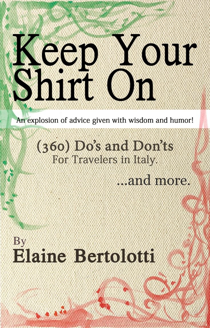 good book for those wanting to get the most out of their trip to Italy!!!