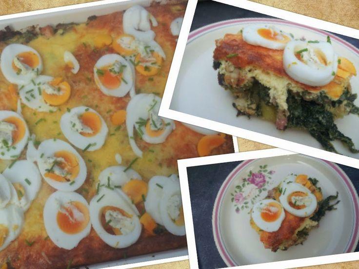 sweet*euro*kookt: Recept Ovenschotel spinazie, kip, champignons, Philadelphia