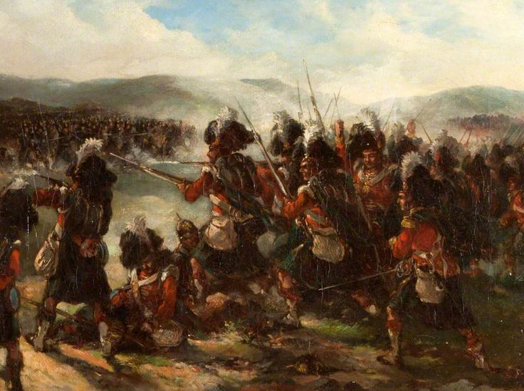 The 79th Cameron Highlanders at the Battle of the River Alma, 1854