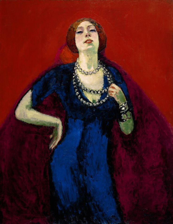 Kees van Dongen (1877-1968), De blauwe japon, Before December 1911, oil on…