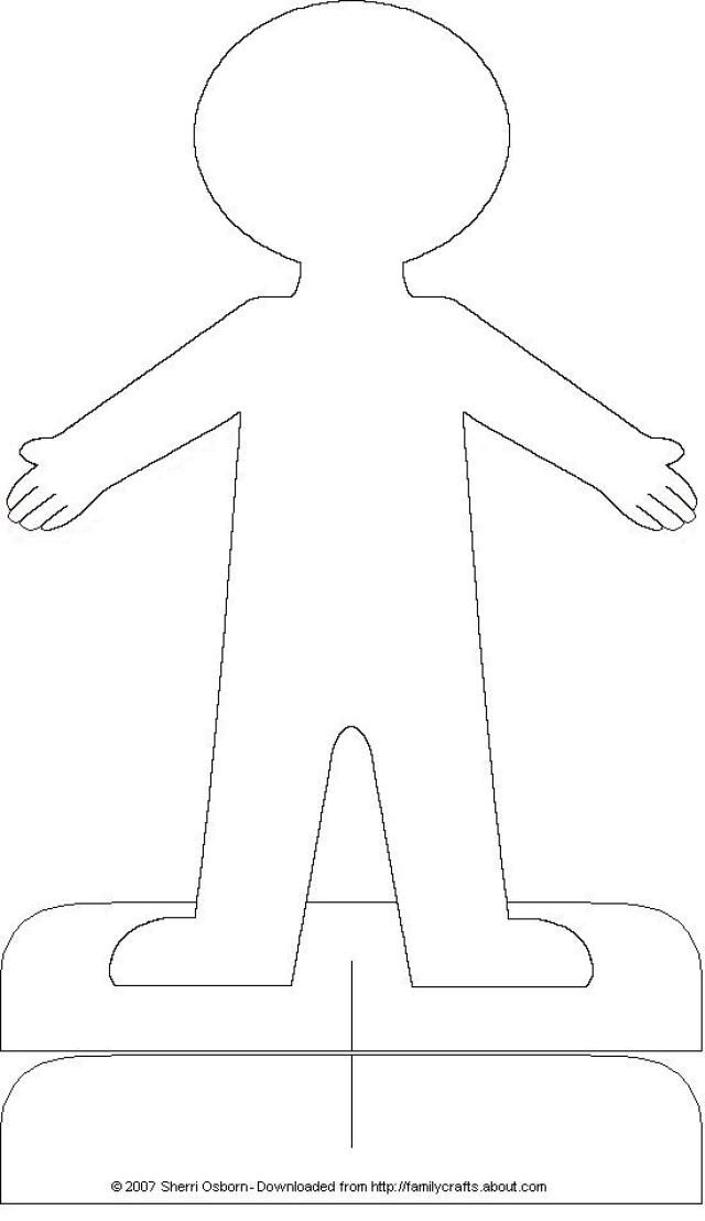 Print out and color or decorate this paper doll body cutout. A personalized paper doll is sure to make any kid happy.