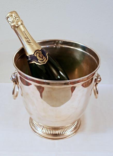 Postříbřený chladič na šampaňské