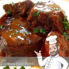 Culinarista Mauro Rebelo   Esta é a minha receita de Carne na Panela de Pressão.  Eu gosto muito de colocar cerveja. Uso a cerveja comu...
