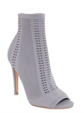 gianvito rossi - femme - bottes - bottines stretch bout ouvert 100mm