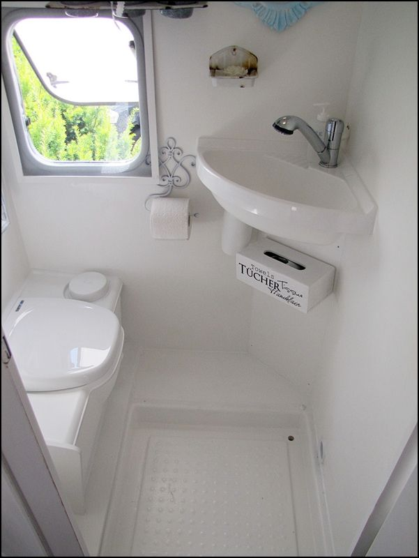 Home Sweet Motorhome: Could easily be a bath in a tiny house ♥️ note the shower.