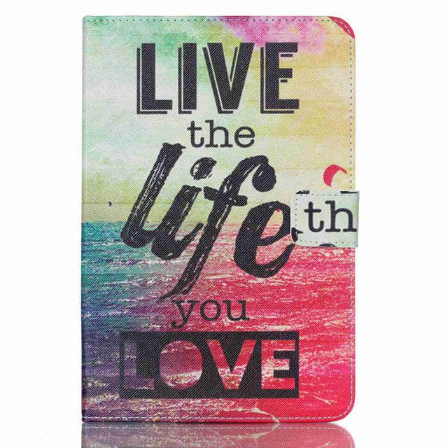 Tablet print pu leather case for samsung galaxy tab A 8.0 T350 SM-T355 8'' tablet cover case T350 folio stand case