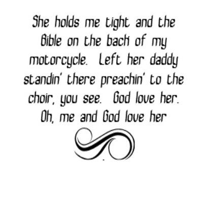 Toby Keith - God Love Her - song lyrics, song quotes, songs, music lyrics, music quotes