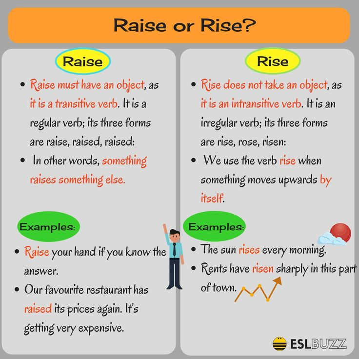 The difference between Raise & Rise; Job & Work in English