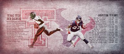 Texas Tech / Houston Texans Schedule Wallpaper