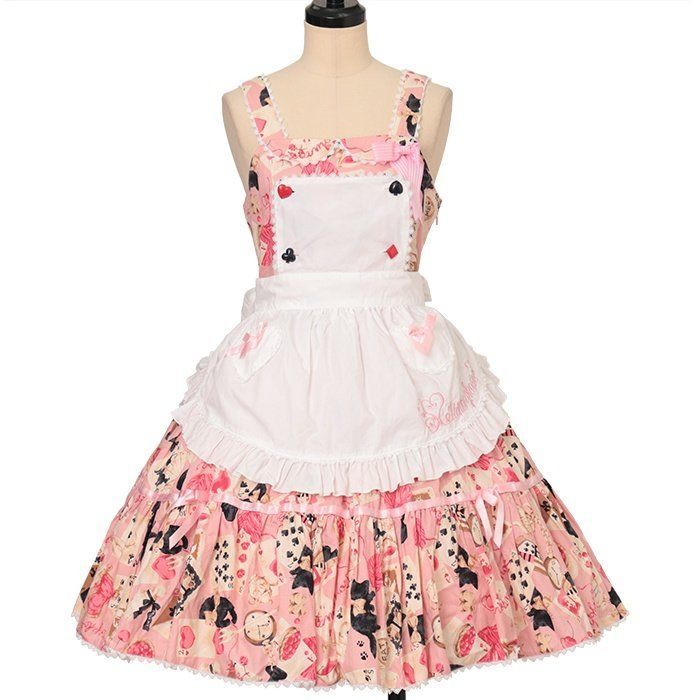 Wonder Card Jumper skirt with apron + Valetta  metamorphose  https://www.wunderwelt.jp/en/products/w-25024    Worldwide shipping available ♪   How to order ↓  https://www.wunderwelt.jp/en/shopping_guide  * Japanese online shop for second-hand Lolita Fashion *Wunderwelt *