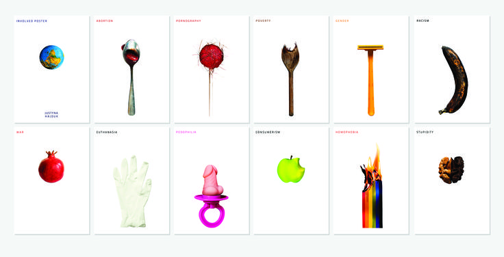 """""""involved poster"""" / graduation project 2014 / social poster / by Justyna Hajduk"""