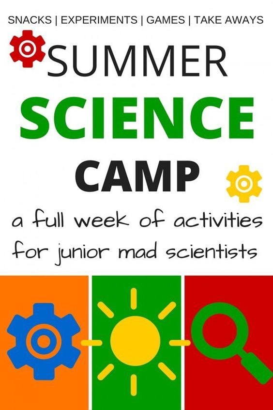Summer Science Camp for kids! Put together a full week of summer science camp including science snacks, science games, science experiments and activities, and science make and take ideas. This summer science camp is perfect for kindergarten and grade school age kids! Easy Summer activities for families and teachers.