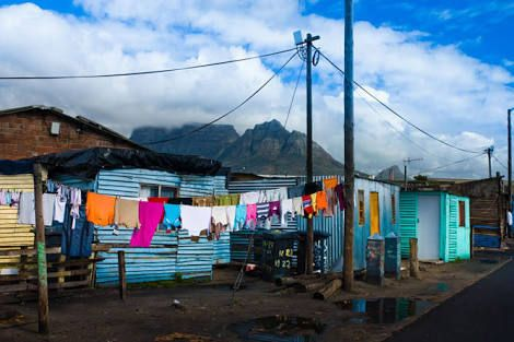 Cape Town squatter camp living