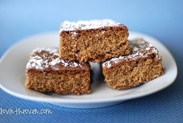 Ginger Bars.  I baked mine for exactly 30 minutes, and they turned out gooey and delicious!  11-14-12