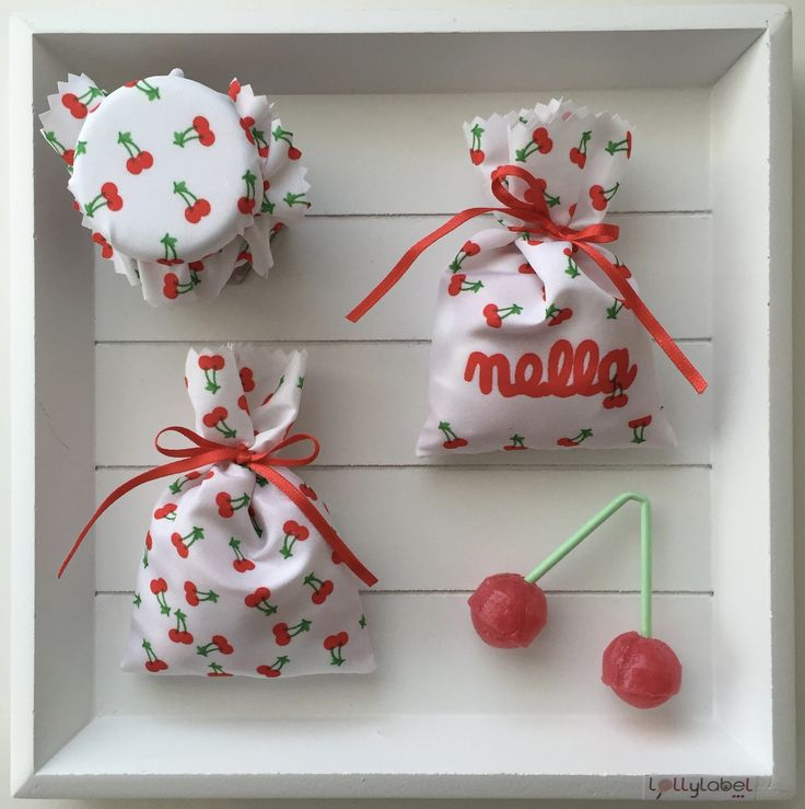 doopsuiker voor Nella - thema kersen