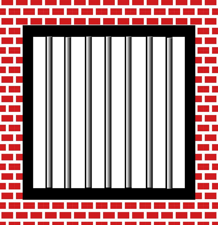 """This image with title """"jail, bars, police, brick"""" can be use in printed or digital formats without any permissions of author for commercial and personal use. Description from pd4pic.com. I searched for this on bing.com/images"""