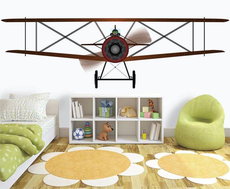 A tutaj mamy SUPER samolot dla SUPER lotnika http://www.fototapeta24.pl/getMediaData.php?id=45006401 #homedecor #fototapeta #obraz #aranżacjawnętrz #wystrój wnętrz #decor #desing #kidsroom #babyroom #kids #kidsinteriors #kidsroomdecor