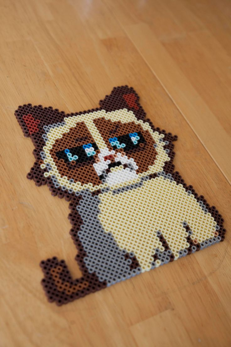 Grumpy Cat Perler beads by EverythingEverMade                                                                                                                                                      More