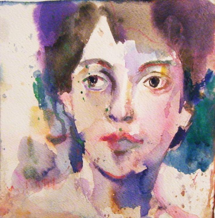 "Saatchi Art Artist Fotini Hamidieli Martou; Drawing, ""just a face"" #art"