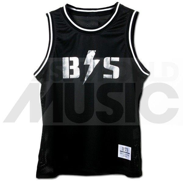 BTS - Maillot basketball BANGTAN BOYS (SILVER / BLACK)