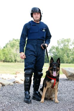 informs the viewer of the requirements and duties of being a K9 police officer
