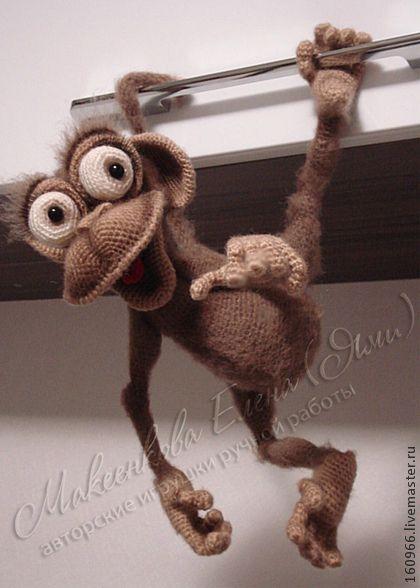 МК по вязанию обезьянки Читы - коричневый,обезьянка,мартышка,Авторские игрушки
