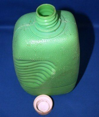 garrafas d água ,marca flexa carioca, 1960 / 70, plástico!