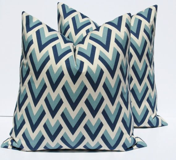 Decorative Throw Pillows Throw Pillow Covers 18x18 pillow covers  printed fabric on front and back Chevron Pillow Covers