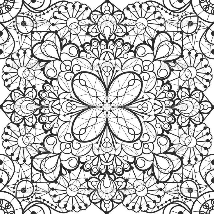 Бесшовный кружевной фон — стоковая иллюстрация #42034909