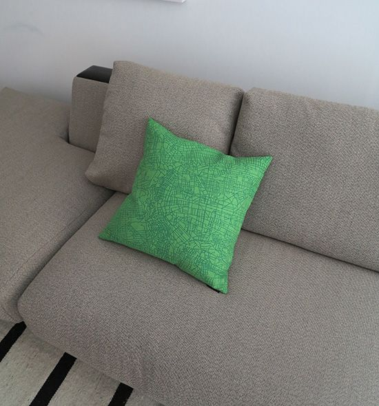 The Metropolis Pillow at home.
