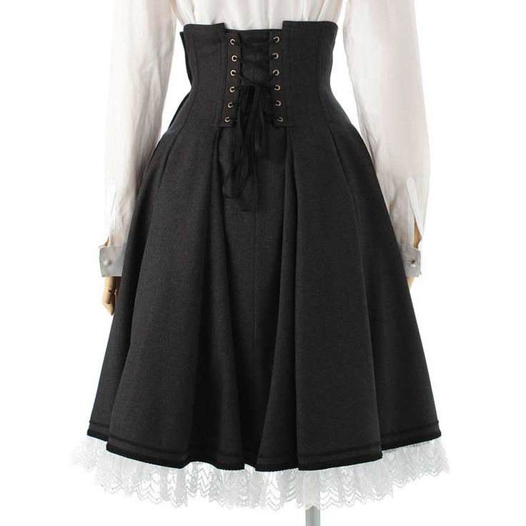 Skirt, Excentrique: The back of a high waisted 'Byron' corset skirt from the 2011 Winter Collection. Love the way it drapes from the corset.