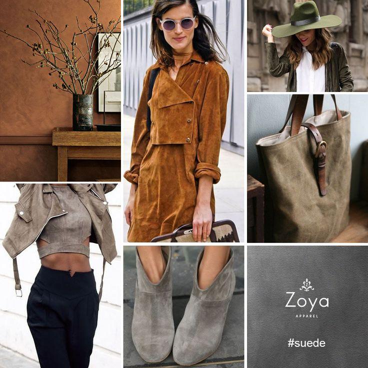 Fall 2015 Hot Fabric: Suede..  #zoya #apparel #fashion #trends #suede #fabric #fall2015 #hot