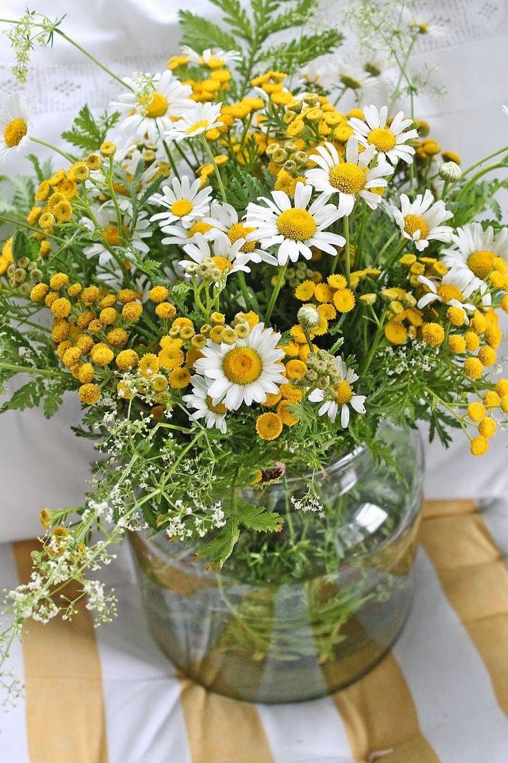 VIBEKE DESIGN Zomers Veldboeket · Simple FlowersSummer FlowersYellow ...