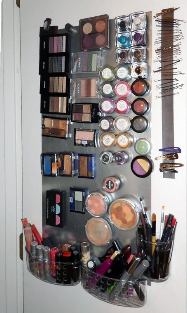 Why You Should Use Magnets To Organize Your Bathroom Diy Makeup