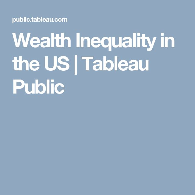 Wealth Inequality in the US | Tableau Public